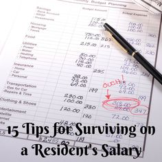 15 Tips for Surviving on a Medical Resident's Salary Are you serious about living within your means and maximizing your medical resident salary? Here are 15 tips to get you moving in the right direction! Pa School, Medical School, School Notes, School Life, School Stuff, Residency Medical, Planning Budget, Financial Planning, Are You Serious