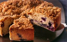 This coffee cake recipe, full of blueberries and warm cinnamon spice, is perfect for breakfast or brunch.