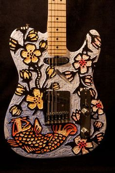 painted guitars - Google Search