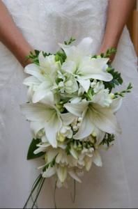 White Oriental Lily bouquet :)