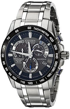 Amazon.com: Citizen Eco-Drive Men's AT4010-50E Titanium Perpetual Chrono A-T Watch: Citizen: Watches