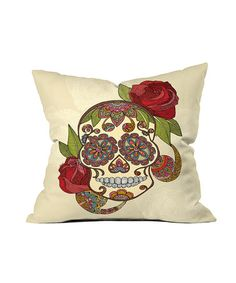Sugar Skull Throw Pillow #zulily #zulilyfinds