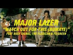 fashion/dancehall style in Major Lazer 'Watch Out For This' (Bumaye) feat. Busy Signal, The Flexican & FS Green [official] Music Like, Music Is Life, New Music, Jamaica, Reggae Music Videos, Busy Signal, Le Concert, Dancehall Reggae, Major Lazer