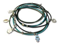Silver Star of David jewelry with Hamsa women/men bracelet for Kabbalah jewelry leather wrap bracelet