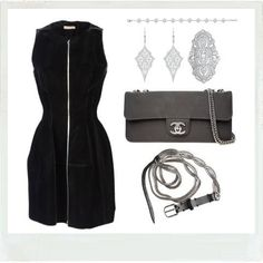 The perfect black Alaïa dress with the perfect accessories... See more Marie Poniatowski's beautiful pieces at http://www.walkinmycloset.com/closet/marie.poniatowski