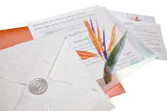 Bird of Paradise - great for a tropical wedding - No Worries Weddings & Events: Your Destination Wedding Specialists - Invitations at: http://noworrieswed.squarespace.com/invitations