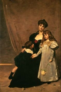 Carolus-Duran (1838 – 1917, French) Madame Faydou And Her Children
