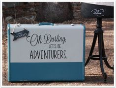 How darling is this painted suitcase from Q is for Quandie? I looooove the saying! Painted Suitcase, Travel Crafts, See World, Cottage Crafts, Fence Art, Vintage Suitcases, Mineral Paint, Beautiful Dream, Furniture Makeover