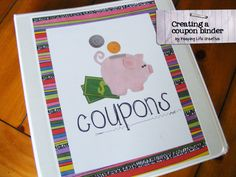 Creative coupon binder cover