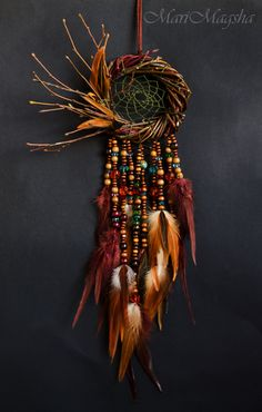 "Order Dreamcatcher ""In the La . Bestellen Dreamcatcher ""In dem Land, wo der Klang d… Hunter handmade dreams. Order Dreamcatcher ""In the country where the sound of the … – - Los Dreamcatchers, Moon Dreamcatcher, Sounds Of Birds, Diy And Crafts, Arts And Crafts, Diy Tumblr, Creation Deco, Sun Catcher, Nature Crafts"