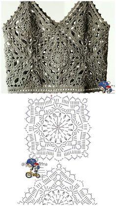 Fashion Tips Bags .Fashion Tips Bags T-shirt Au Crochet, Pull Crochet, Mode Crochet, Crochet Motifs, Crochet Shirt, Crochet Girls, Irish Crochet, Crochet Crafts, Crochet Tops
