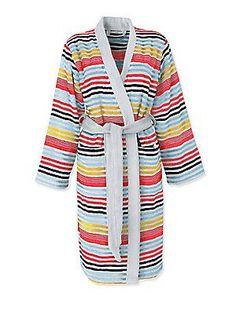 Sonia Rykiel Paris Rue De Seine Striped Bath Robe