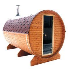 Udendørs sauna tønde. Se flere sauna løsninger her www.saunaovn.dk Sauna, Barrel, Outdoor Decor, Safari, Home Decor, Decoration Home, Barrel Roll, Room Decor, Barrels