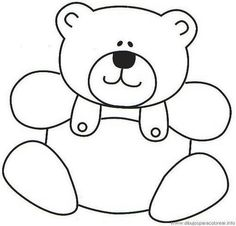 Teddy Bear Pattern for Scrapbooking or Card Making . Teddy Bear Pattern for Scrapbooking or Card MakingTeddy bears en amor para colorear libro . Applique Templates, Applique Patterns, Applique Quilts, Applique Designs, Quilt Patterns, Quilt Baby, Colouring Pages, Coloring Books, Motifs D'appliques