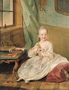 Portrait of Maria Anna of Zweibrücken - Johann Georg Ziesenis der Jüngere - 1757