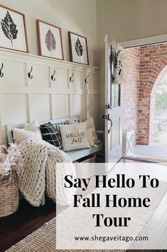 In this tour, I will show you several ways to welcome Fall into your home by creating warm and inviting spaces to enjoy these lovely months ahead. If you are looking for decorating ideas, you've come to the right place! #handmadewithjoann#hometour#fall#falldecor Fall Home Decor, Autumn Home, Diy Home Decor, Fall Pillows, White Pillows, Dining Room Centerpiece, Fall Vignettes, Entryway Decor, Entryway Ideas