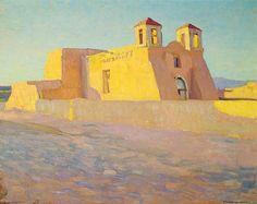 Ernest L. Blumenschein, Church at Ranchos de Taos, no date