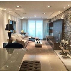 Excellent Contemporary Living Room Decor Idea Try For You 27 Living Room Interior, Home Living Room, Home Interior Design, Living Room Designs, Living Room Decor, Living Room Theaters, Condo Living, House Design, Roof Design