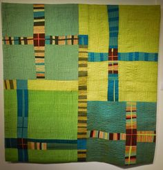 Blue Cross silk quilt by Melinda Snyder.  Photo by Kathleen Loomis | Art With a Needle: September 2014