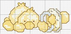 baby duck cross stitch... no color chart, just use pattern chart colors as your guide.. or choose your own colors.