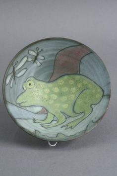 436: A Tessa Fuchs studio pottery bowl, 5.5in. : Lot 436