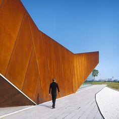 Corten Steel on the Vanke Triple V Gallery by Ministry of Design. Designed Rust-I love.