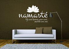 Wall Decal Vinyl Sticker Decals Art Decor Design Lotus Words Soul Namaste yin yang Buddha Ganesha Dorm Office Yoga Modern Bedroom (r1094)