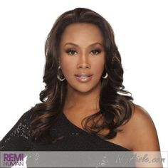 """TIFFANY-V (Vivica A. Fox) - Synthetic Lace Front Wig in DARK BROWN by Vivica A. Fox. $53.76. Color 4 is DARK BROWN. Color shown is FS4/27. Styling required to achieve the exact look shown. The color you receive may vary from the swatch shown due to your monitor and the distribution of the color fibers dictated by the style.. Lace Front Synthetic Wig. Long length. Wavy style. Average cap size. Color 4 is DARK BROWN (Color shown is FS4/27) - Deep Lace Front Wig. 18"""" LAYERE..."""