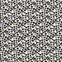 Hearts in Black and Metallic Gold