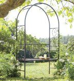 Wrought Iron Garden Flourish Bench Arbor. FREE DELIVERY $271.43. Wrought iron arbor with bench seat. Beautiful with our without blooming vines and climbers. Creates a romantic spot anywhere in your landscape.Durable wrought iron with a bronzed powder-coat finish. Buy now http://goodsarbitrage.ca/index.php?page=shop.product_details&flypage=shop.flypage&product_id=1006630&category_id=368171&manufacturer_id=0&sku=-1042041286&option=com_virtuemart&Itemid=1