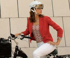 Bring it! 6 Chic Bicycle Helmets via Well + Good. http://www.wellandgoodnyc.com/2013/06/03/6-chic-helmets-new-york-cyclists-love/#6-chic-helmets-new-york-cyclists-love-4