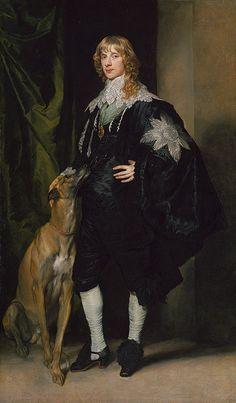 Sir Anthony van Dyck, James Stuart Duke of Richmond and Lennox Anthony Van Dyck, Sir Anthony, Greyhound Kunst, James Stuart, Pierre Auguste Renoir, Renaissance Art, Old Master, Dog Art, Oeuvre D'art