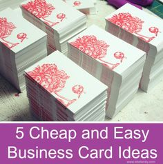 5 Cheap and Easy Business Card Ideas - Thinking Outside The Sandbox WAHM Small Business and Social Media