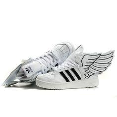 on sale d0203 ef108 Newest Women adidas x Jeremy Scott JS Wings 2.0 white black For £84.19