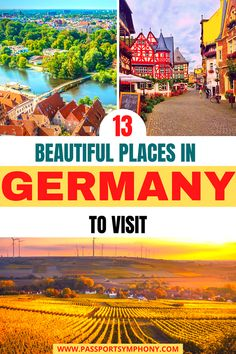 Are you planning to visit Germany and are looking to get off the beaten track? Then you'll surely love this article of the best hidden places in Germany.   #placesingermany #travelgermany #germanyoffthebeatentrack Europe Destinations, Europe Travel Guide, Travelling Europe, Travel Abroad, Amazing Destinations, Traveling, Visit Germany, Germany Travel, Best Places To Travel