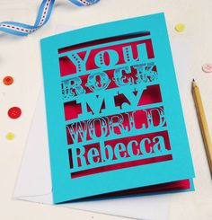 Personalised You Rock My World Card