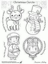 Coloriage Les héros de Noël sur Hugolescargot.com