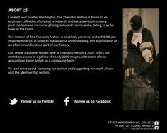 The Thanatos Archive / Early Post Mortem and Mourning Photography