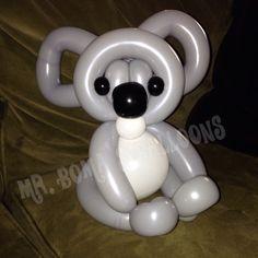 Koala balloon animal by Mr. Boma's Balloons.