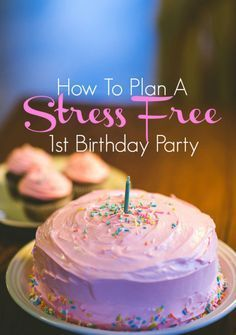 How to Plan A Stree-Free 1st Birthday Party! - Your party doesn't have to be PINTEREST-WORTHY, plan a low-key party because hey, your 1-year-old won't even remember it!