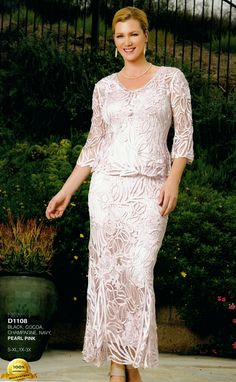 Beaded 2 Piece Mother of the Groom Dresses
