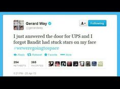 Gerard Way: not just the frontsman of MCR, a great solo singer, and a talented author of comics, HES ALSO A LIT DAD Gerard Way, Emo Bands, Music Bands, My Chemical Romance, Music Stuff, My Music, Mikey Way, Band Memes, Mcr Memes