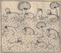 Le Livre de chasse, que fist le comte FEBUS DE FOYS, seigneur de Bearn.  Date d'édition :  1375-1400  Français 619  Folio 39v
