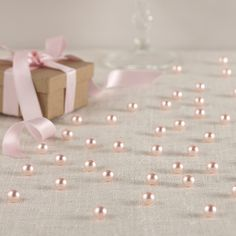 Table Pearls In Baby Pink Uk Wedding Favours Vintage