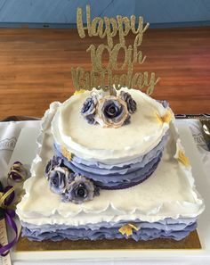 Lucky to have had an opportunity to make a birthday cake for someone who turned 100th! Lavander Ombré Ube Cake