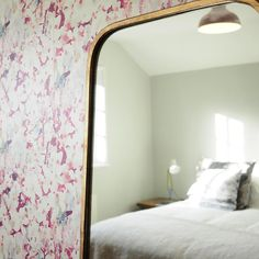 Luxury Wallcoverings and Print Design Cherry Blossom, House Tours, Oversized Mirror, Print Design, Cottage, Studio, Country, Luxury, Wallpaper
