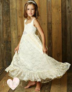 PROMOTION Beaded Satin Wedding Flower Girl Bridesmaid Dress Party 4y-7y FG192