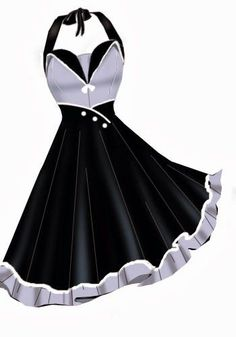 Custom Pinup Retro rockabilly Dress Perfect for VIVA by 57Cherry