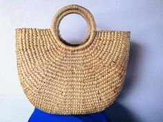 Plain Straw Beach Basket Bag for Colorful Day Shopping and Beach. They made of Water Hyacinth bag. You can D.I.Y. as you want. for gift to extra or your friend. We disinfected the bag and ensure they ultra clean. **Canada ship Express only size S-M shipping cost 48$ size L shipping cost
