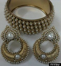 Designer earrings with traditional bangle